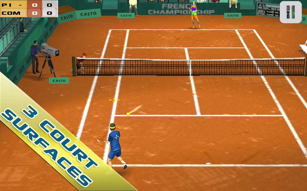 Cross Court Tennis- screenshot