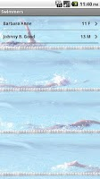 Screenshot of Swimmer's Log