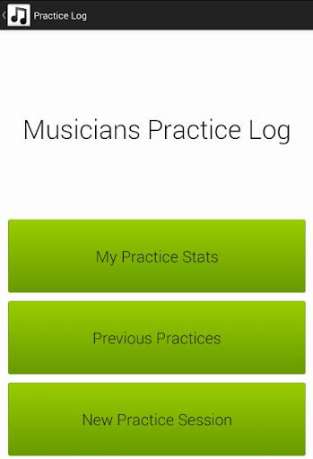 Musicians Practice Log