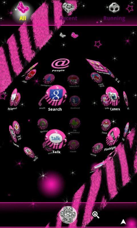 Pink Zebra Starry icon pack- screenshot