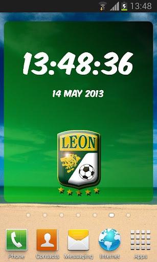 Club León Digital Clock