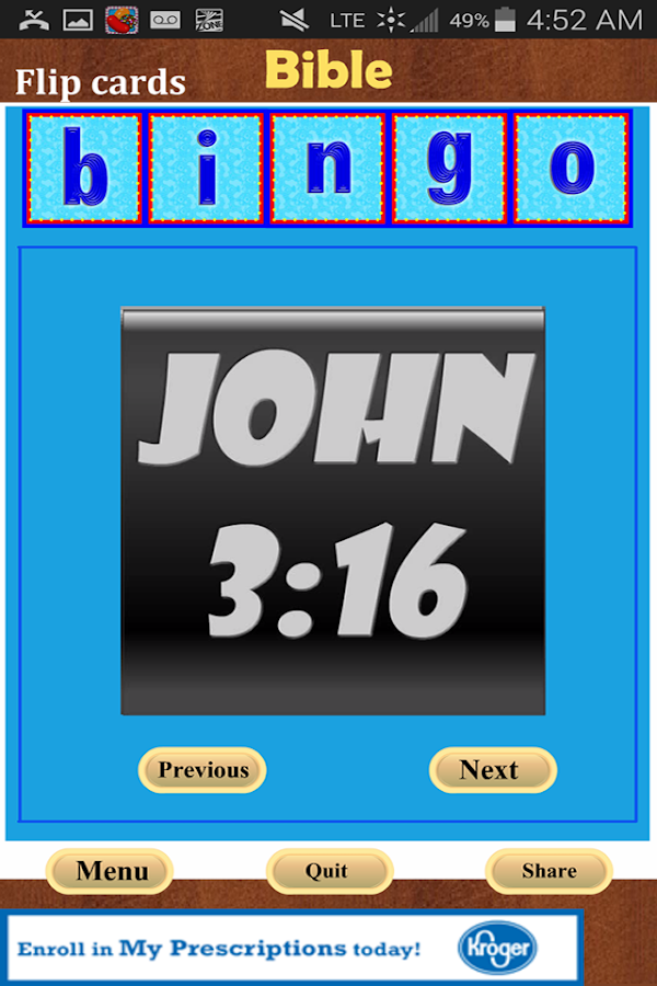 Bible Bingo- screenshot