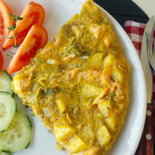 Salmon and Leek Tortilla