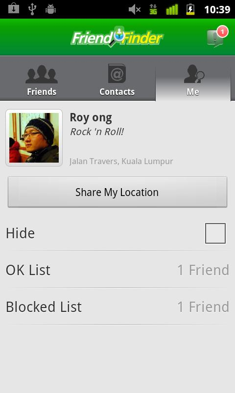 Maxis Friend Finder - screenshot
