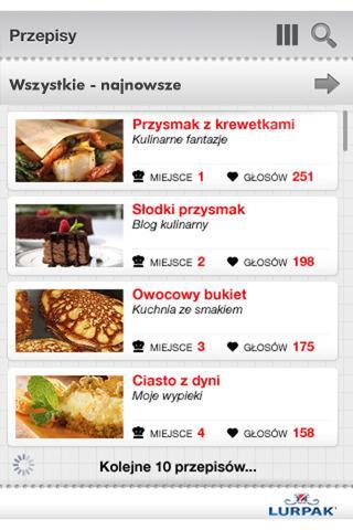 Wybory Kulinarnego Bloga Roku- screenshot