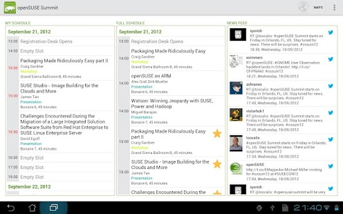 SUSE Conferences - screenshot thumbnail