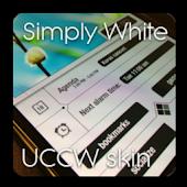 Simply White theme UCCW skin