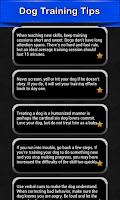 Screenshot of Dog Training Tips