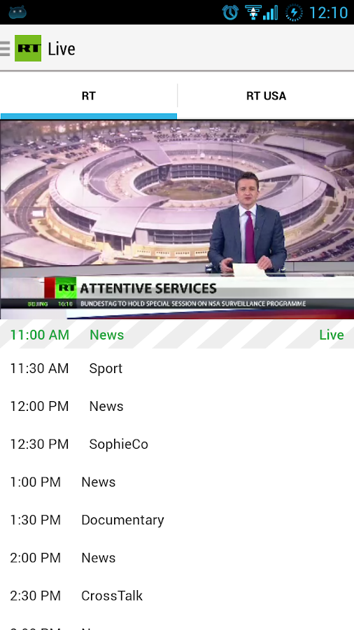 RT News English - screenshot