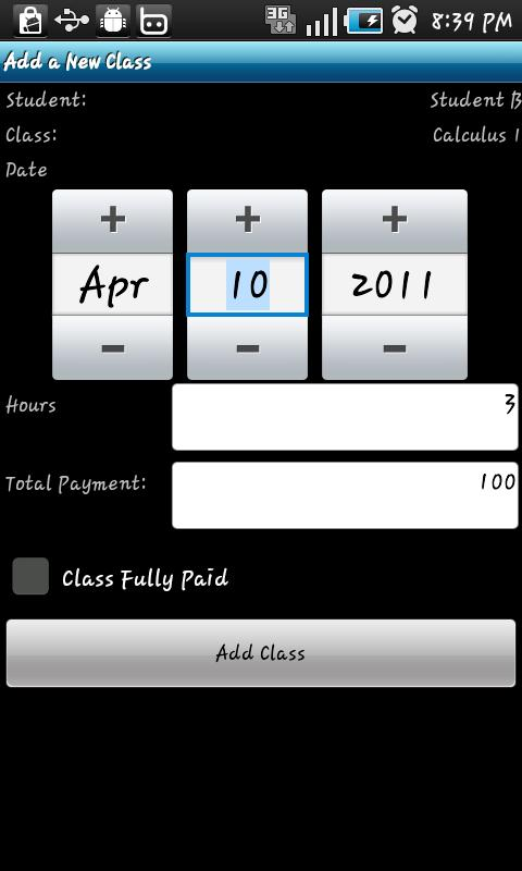 Tutor Finances Full- screenshot