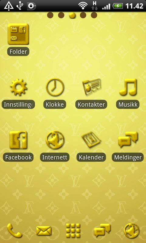 Golden GO Launcher EX Theme - screenshot