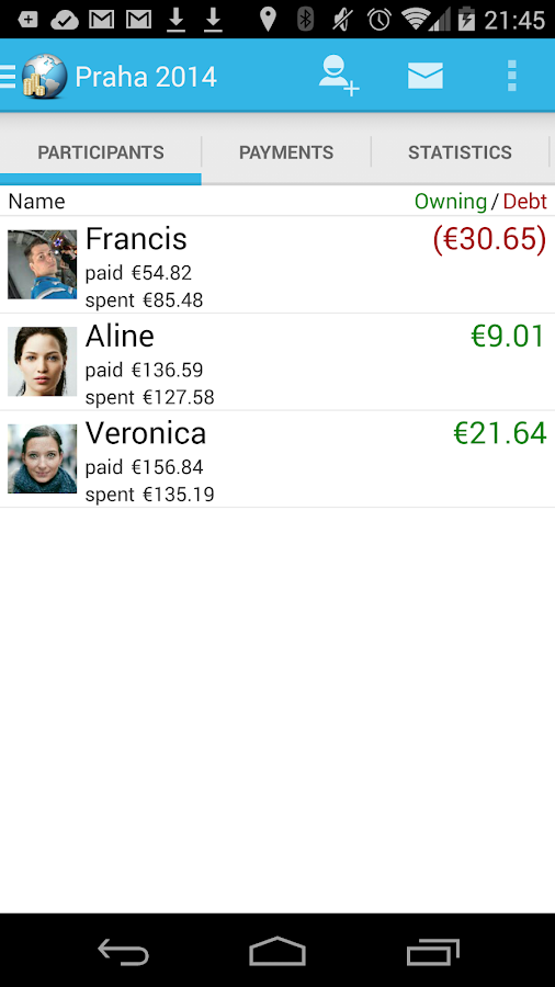 Travel Money - Group Expenses - screenshot