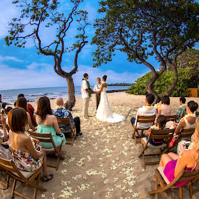Circle of Love by Kazuki Nakamura - Wedding Ceremony ( fisheye, wedding, ocean, beach, hawaii, wedding ceremony, improving mood, moods, red, love, the mood factory, inspirational, passion, passionate, enthusiasm )
