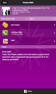 Tickets Northwest Arkansas screenshot