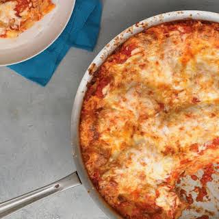 Three-Cheese Skillet Lasagna.