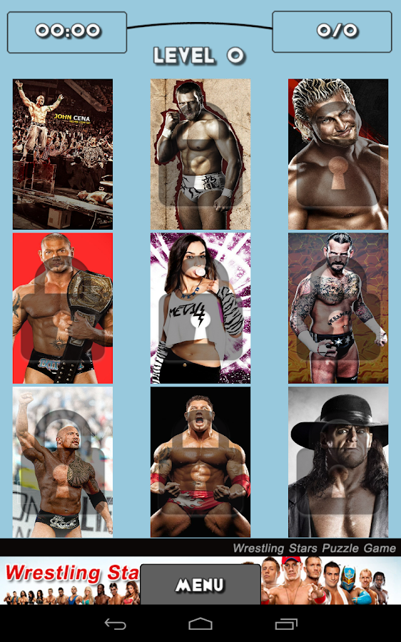 Wrestling Stars Puzzle Game - screenshot