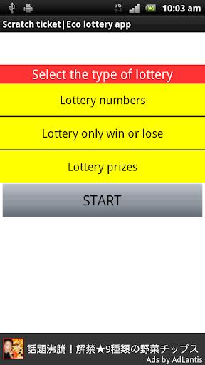 Scratch ticket Eco lottery app