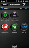 Screenshot of TransCard mobile wallet