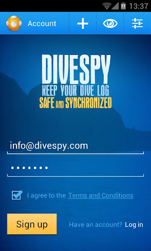 Dive log by Divespy