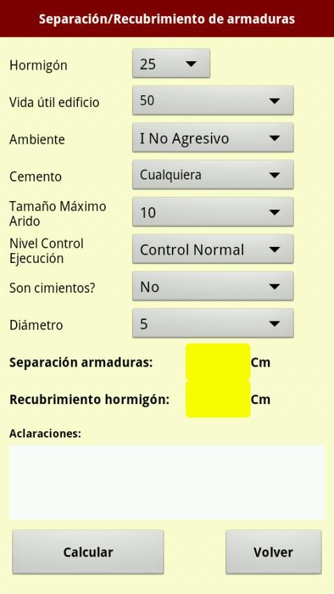 Utilidades hormigon, acero EHE: captura de pantalla