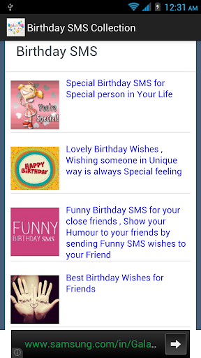 Birthday SMS Collection