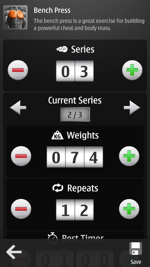 Barbell Gym Tracker - screenshot