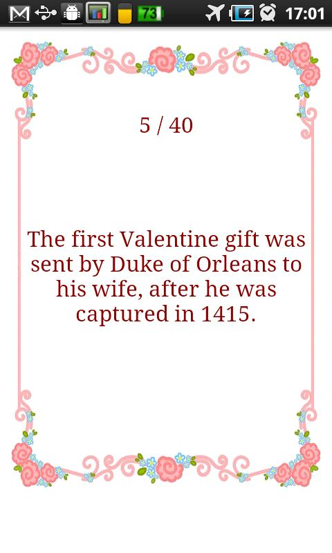 Valentine's Day Fun Facts - screenshot
