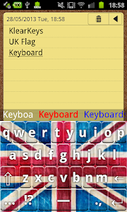 KlearKeys UK Flag Keyboard screenshot 4