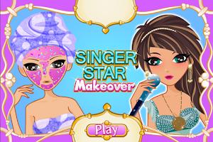 Screenshot of Singer Star Makeover Salon
