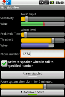 BabyMonitor screenshot for Android
