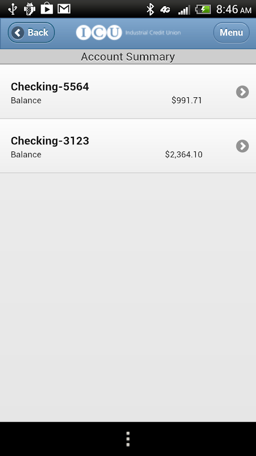 ICU Mobile Banking - screenshot