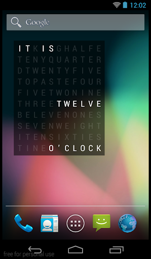 Word Clock Widget