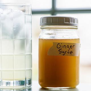 Ginger Syrup for Homemade Ginger Ale.