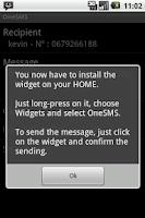 Screenshot of One SMS