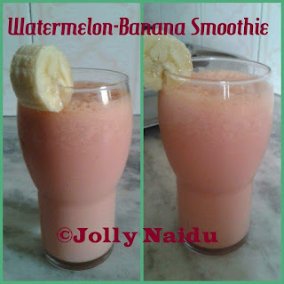 Yummy Watermelon-Banana Smoothie.
