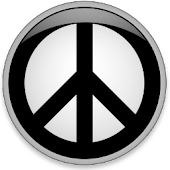 Peace Symbol Clock Widget