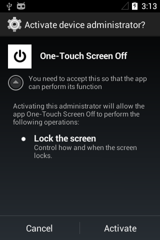 One-Tap Screen Lock