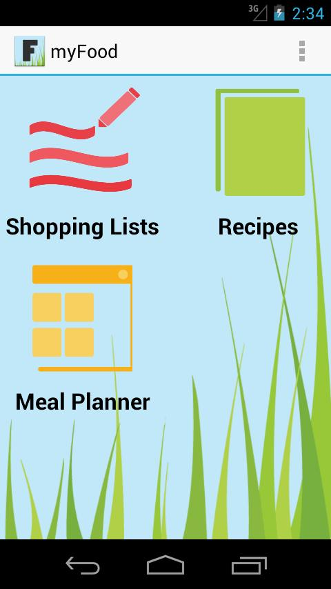 my Food - Grocery Planner - screenshot