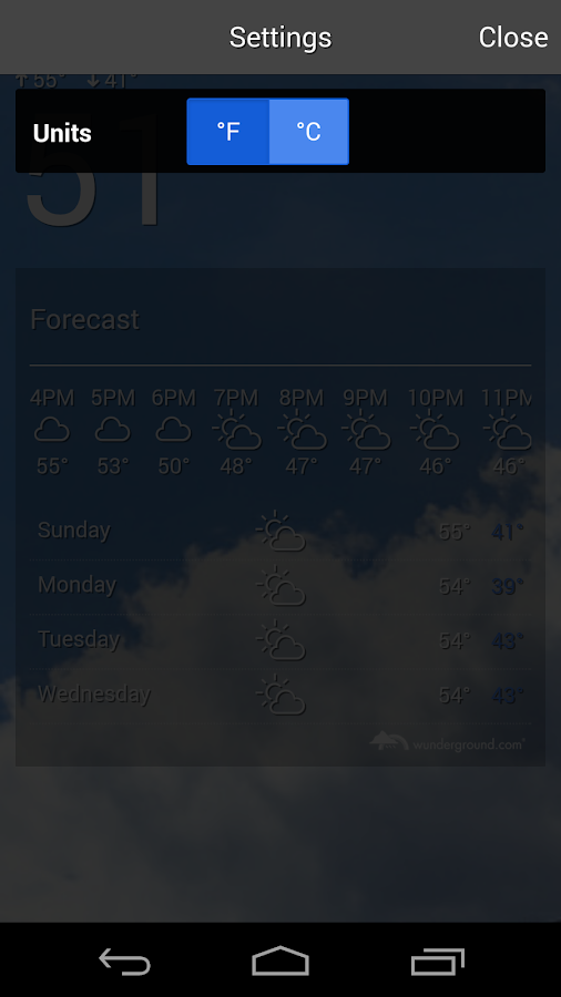 The Weather Forecast- screenshot