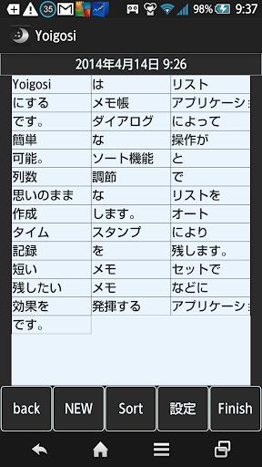 Yoigosi(メモ帳)