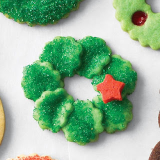 Fluted Wreath Cookies.