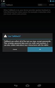 Google Talkback - screenshot thumbnail