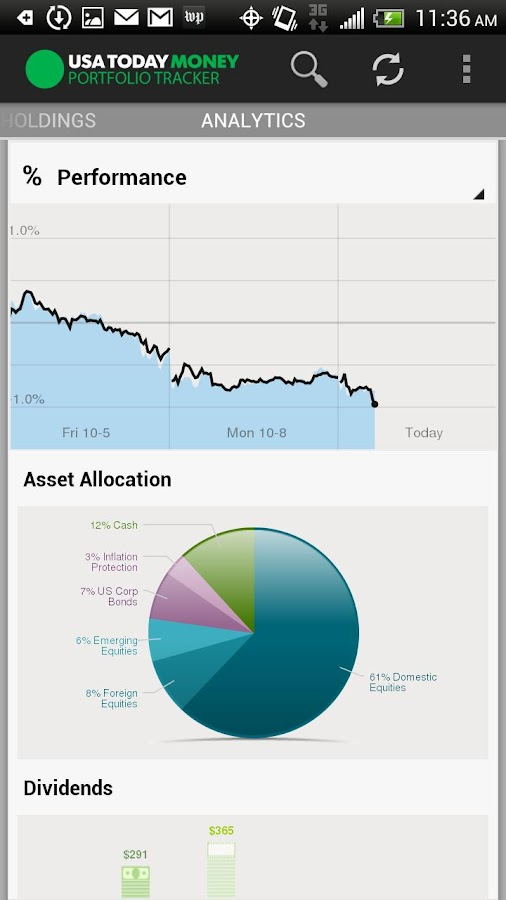 USA TODAY Portfolio Tracker - screenshot