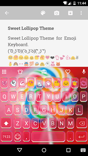 Sweet Lollipop Emoji Keyboard