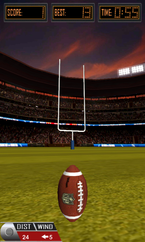 3D Flick Field Goal- screenshot