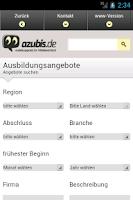 Screenshot of azubis.de