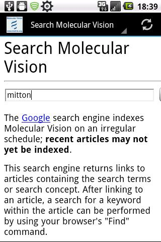 Molecular Vision- screenshot