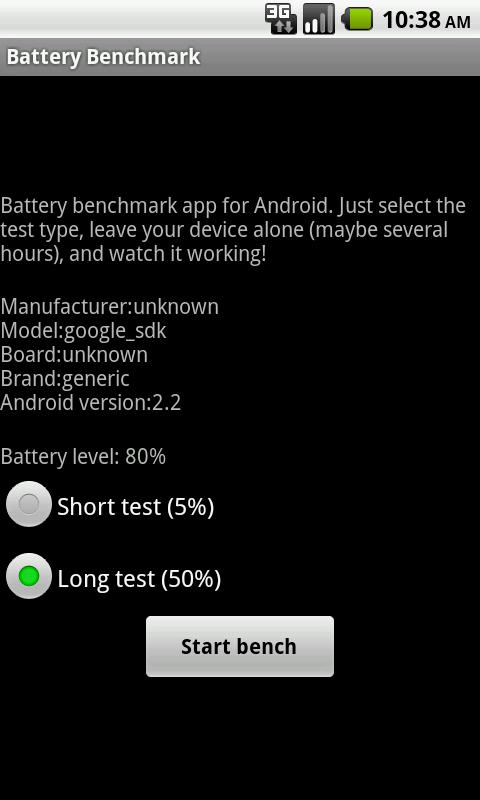 Battery Benchmark - screenshot