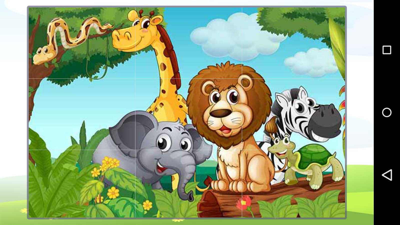 animal cartoon puzzle screenshot - Images Cartoon Animals