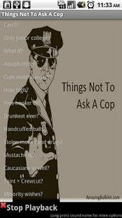 Things Not To Ask A Cop - screenshot thumbnail